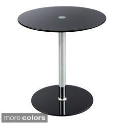 Safco Black Glass Top Accent Table