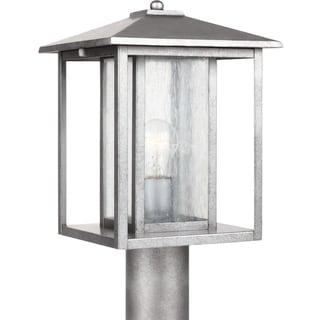 Hunnington 1-light Weathered Pewter Outdoor Post Light