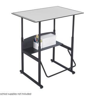 Safco Alphabetter 36 x 24-inch Premium Grey Top/ Black Frame Stand-up Desk with Swinging Footrest Ba