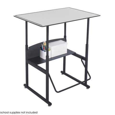 Safco Alphabetter 36 x 24 Premium Grey Top Stand-up Desk with Footrest