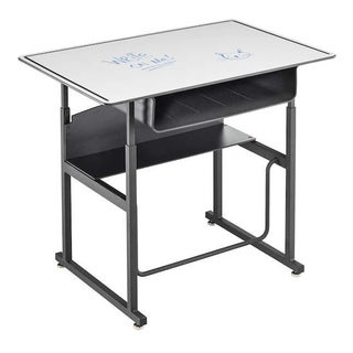 Safco Alphabetter 36 x 24-inch Premium Grey Top/ Black Frame Stand-up Desk with Swinging Footrest Ba