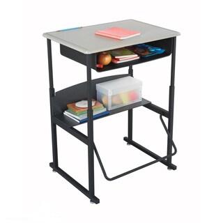 Safco Alphabetter 28 x 20-inch Standard Beige Top/ Black Frame Stand-up Desk with Swinging Footrest