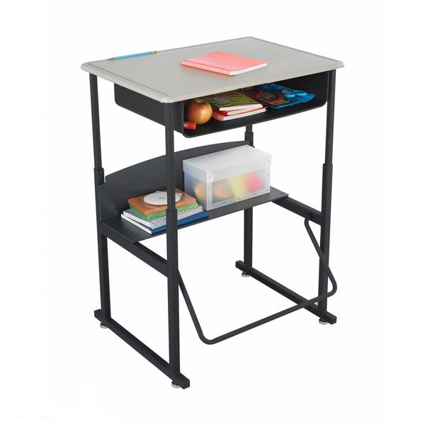 Safco Alphabetter 28 x 20 Standard Top Stand-up Desk with Footrest. Opens flyout.