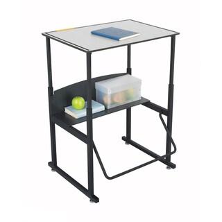 Safco Alphabetter 28 x 20-inch Premium Grey Top/ Black Frame Stand-up Desk with Swinging Footrest Ba