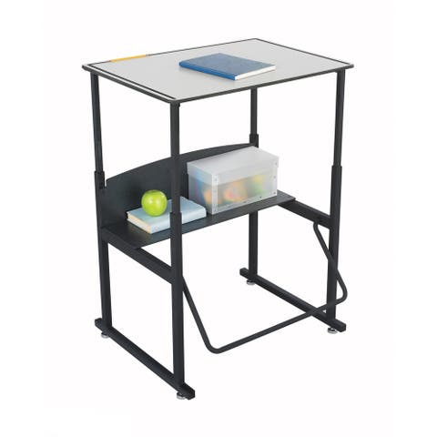 Safco Alphabetter 28 x 20 Premium Top Stand-up Desk with Footrest