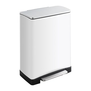 Safco 13 gal. Squared Step-on Waste Receptacle