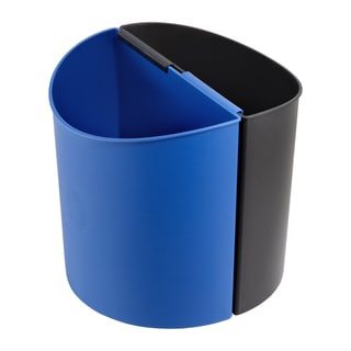 Safco 3 gal. Black/ Blue Dual Desk-side Waste Recycling Receptacle