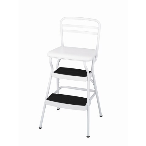 Cosco Retro Steel Counter Lift Up Chair / Step Stool