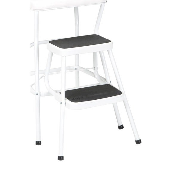 Cosco Retro White Counter Chair / Step Stool - Free Shipping Today - Overstock.com - 15388204  sc 1 st  Overstock.com & Cosco Retro White Counter Chair / Step Stool - Free Shipping Today ... islam-shia.org