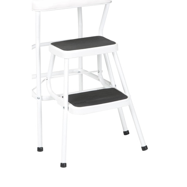 Cosco Retro White Counter Chair / Step Stool - Free Shipping Today - Overstock.com - 15388204  sc 1 st  Overstock.com : retro counter chair step stool - islam-shia.org