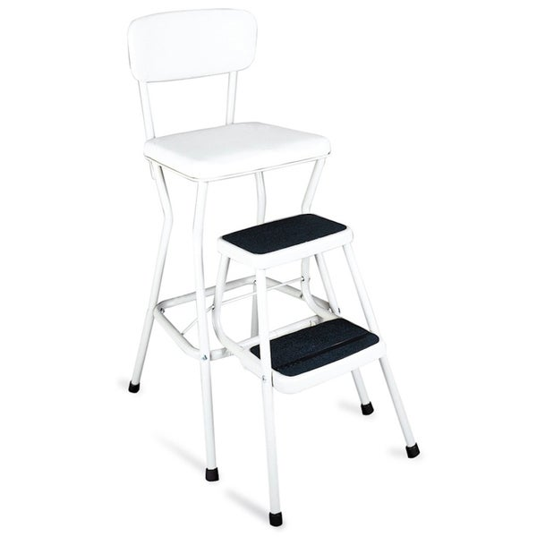 Cosco Retro White Counter Chair / Step Stool  sc 1 st  Overstock.com & Cosco Retro White Counter Chair / Step Stool - Free Shipping Today ... islam-shia.org