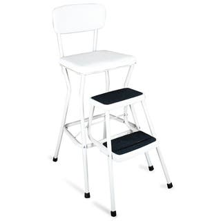 Cosco Retro White Counter Chair / Step Stool|https://ak1.ostkcdn.com/images/products/8026499/P15388204.jpg?impolicy=medium