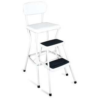 Cosco Retro White Counter Chair/Step Stool