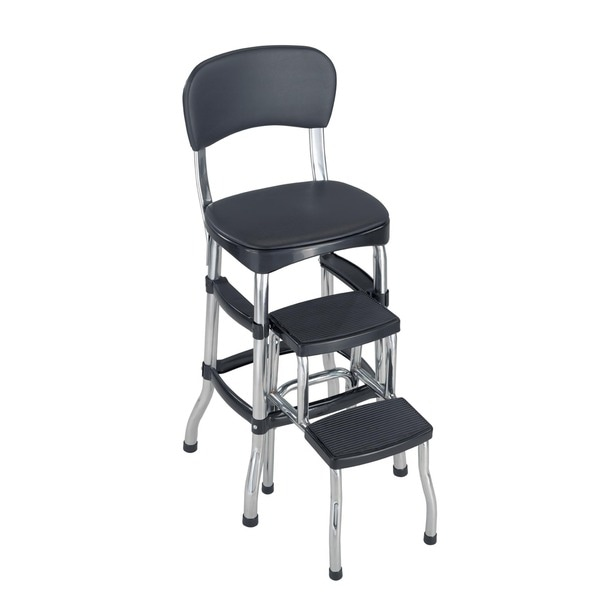 Cosco Retro Counter Chair / Step Stool - Free Shipping Today - Overstock.com - 15388206  sc 1 st  Overstock.com : black plastic step stool - islam-shia.org