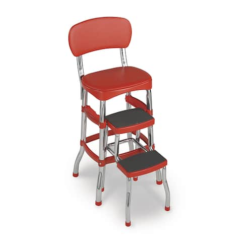 Cosco Retro Vintage Convertible Counter Chair Step Stool