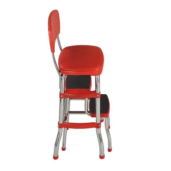 ... cosco retro counter chair step stool free shipping today 15388206 ...  sc 1 st  NALD & Cosco Chair Cosco All Steel Folding Chair In Black 4 Pack. Cosco ... islam-shia.org