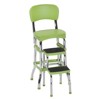 Cosco Retro Counter Chair / Step Stool (Option: Green)