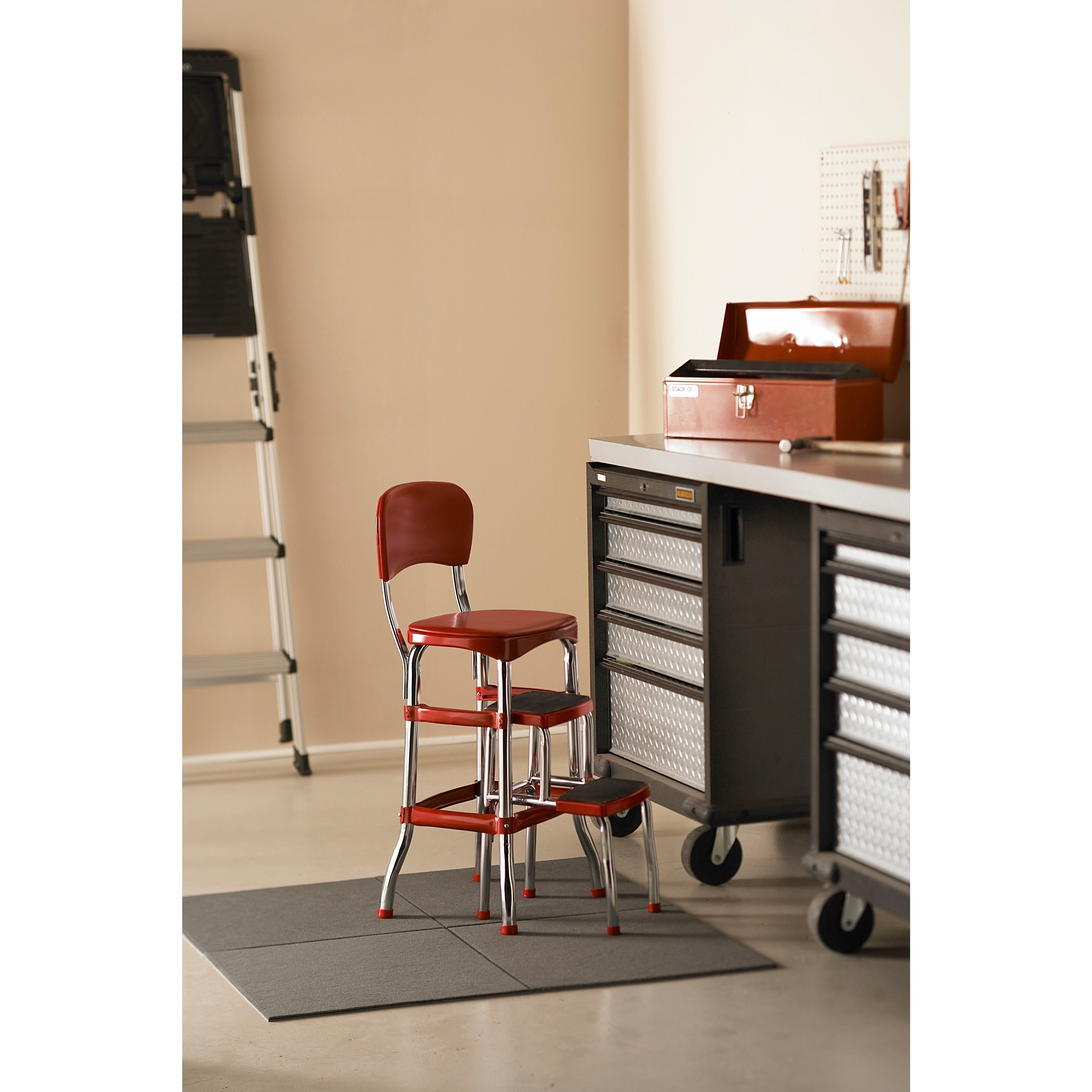 Outstanding Cosco Retro Counter Chair Step Stool Ncnpc Chair Design For Home Ncnpcorg