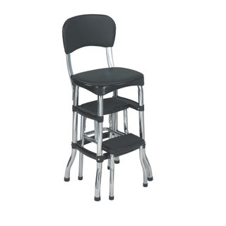 Cosco Retro Counter Chair / Step Stool (Option: Black)