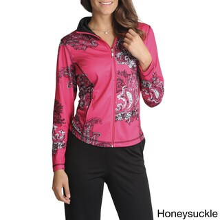 threehearts Women's Paisley Printed Jacket