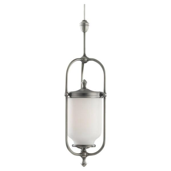 Sea Gull Lighting 1-Light Transition Antique Brushed Nickel Finish Pendant