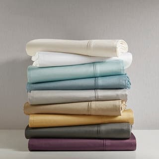 Madison Park 600 Thread Count Pima Cotton Sateen 4-piece Sheet Set|https://ak1.ostkcdn.com/images/products/8028450/P15389857.jpg?impolicy=medium
