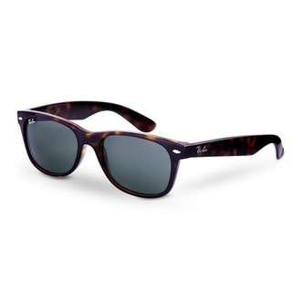 Ray-Ban New Wayfarer RB2132 Unisex Tortoise Frame Green Lens Sunglasses - Brown