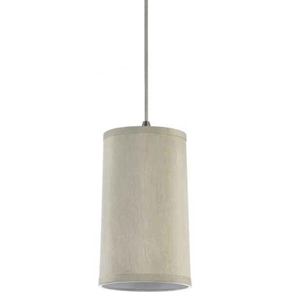 Sea Gull Lighting 1-Light Oyster Silk Dupion Finish Mini Pendant