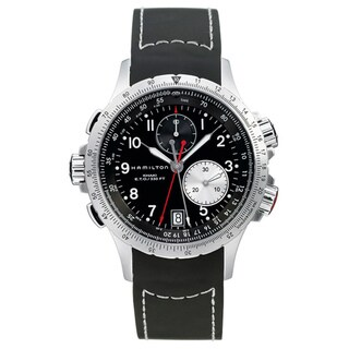 Hamilton Men's 'Khaki ETO' Black Dial Chronograph Watch