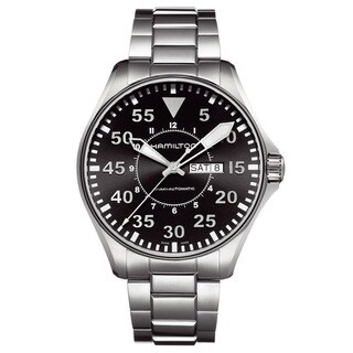 Hamilton Men's 'Khaki Pilot' Stainless Steel Watch
