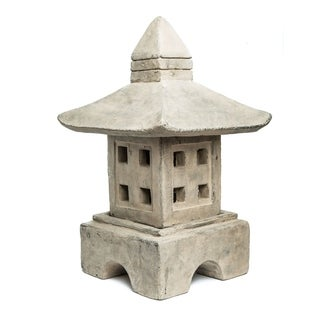 Handmade Volcanic Stone Oki-Gata Lantern (Indonesia)