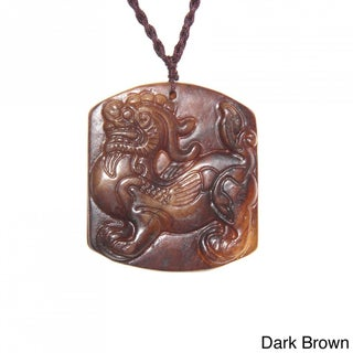Handmade Blessing Animal Antique Jade Necklace (China)