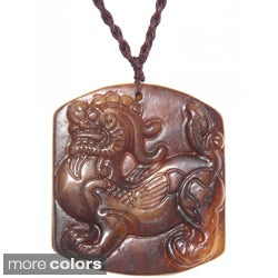 Handmade Blessing Animal Antique Jade Necklace (China)