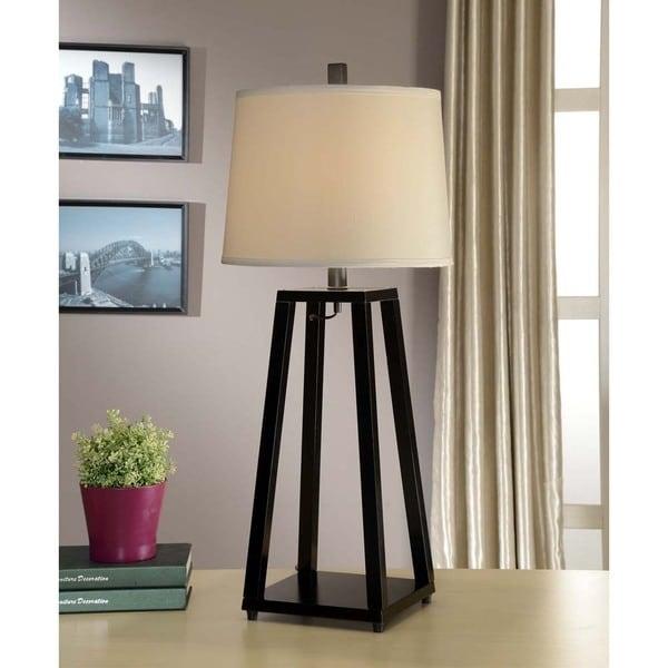 Shop artiva usa elliot modern 35 inch java black wood table lamp artiva usa elliot modern 35 inch java black wood table lamp aloadofball Choice Image