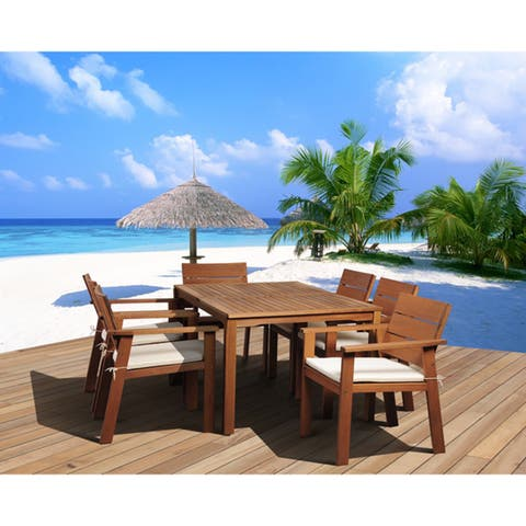 Amazonia Albany 7-piece Eucalyptus Wood Patio Dining Set