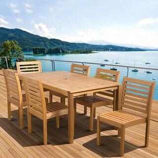 Amazonia Amelia Eucalyptus Wood 7-piece Outdoor Dining Set