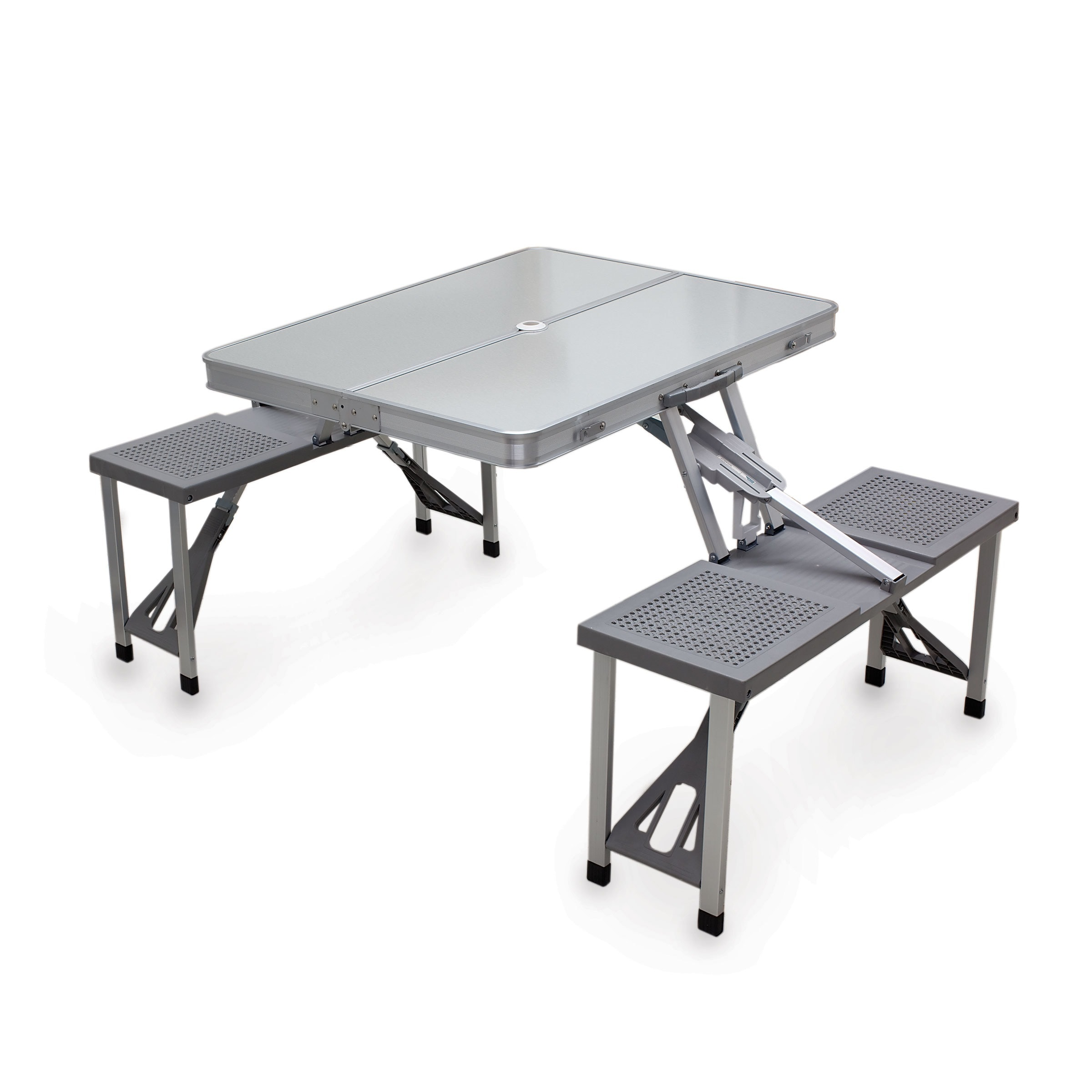 Oniva Aluminum Foldable/ Packable Picnic Table (Silver/Grey)