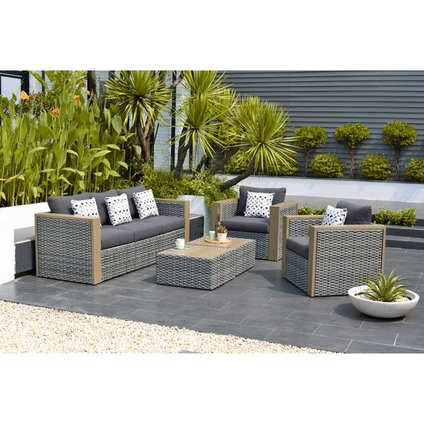 Genial Oliver U0026amp; James Bailly 5 Piece Patio Conversation Set