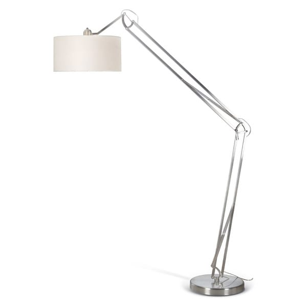 Captivating Artiva USA U0027Architectu0027 Contemporary Arched Adjustable Brushed Steel 86 Inch Floor  Lamp With Heavy Duty Base   Free Shipping Today   Overstock.com   15390128