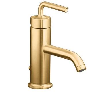 Purist Single Straight Lever Handle Bathroom Sink Faucet