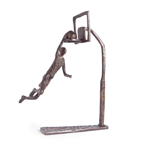 Basketball Dunk Bronze Sculpture - Free Shipping Today ...