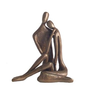 Couple Embracing Bronze Sculpture