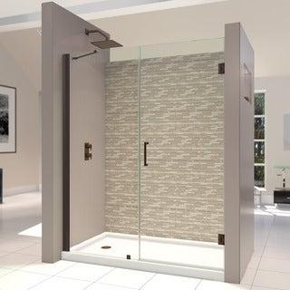 DreamLine Unidoor 58 in. Min to 59 in. Max Frameless Hinged Shower Door