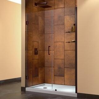 DreamLine Unidoor 54-inch Min to 55-inch Max Frameless Hinged Shower Door