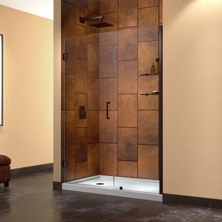 DreamLine Unidoor 53 in. Min to 54 in. Max Frameless Hinged Shower Door