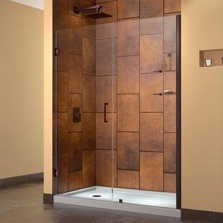 DreamLine Unidoor 55-inch Min to 56-inch Max Frameless Hinged Shower Door