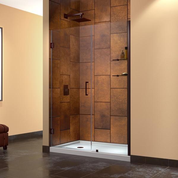 DreamLine Unidoor 60 in. Min to 61 in. Max Frameless Hinged Shower Door