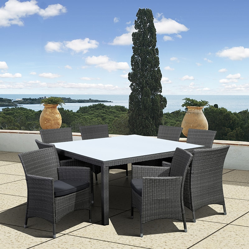 Atlantic Grand Liberty Deluxe 9 Piece Square Dining Set (...
