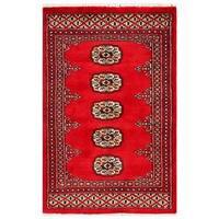 Herat Oriental Pakistani Hand-knotted Bokhara Wool Rug (2' x 3'1) - 2' x 3'1