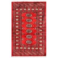 Handmade Herat Oriental Pakistani Bokhara Wool Rug (Pakistan) - 2'8 x 4'